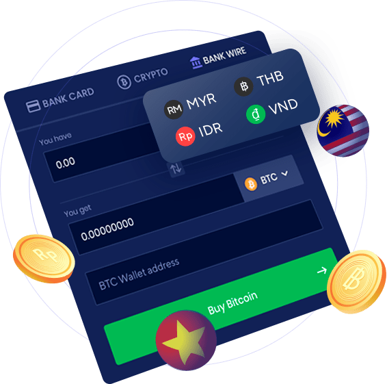 Buy, Sell & Convert Crypto Using Asian Local Banks